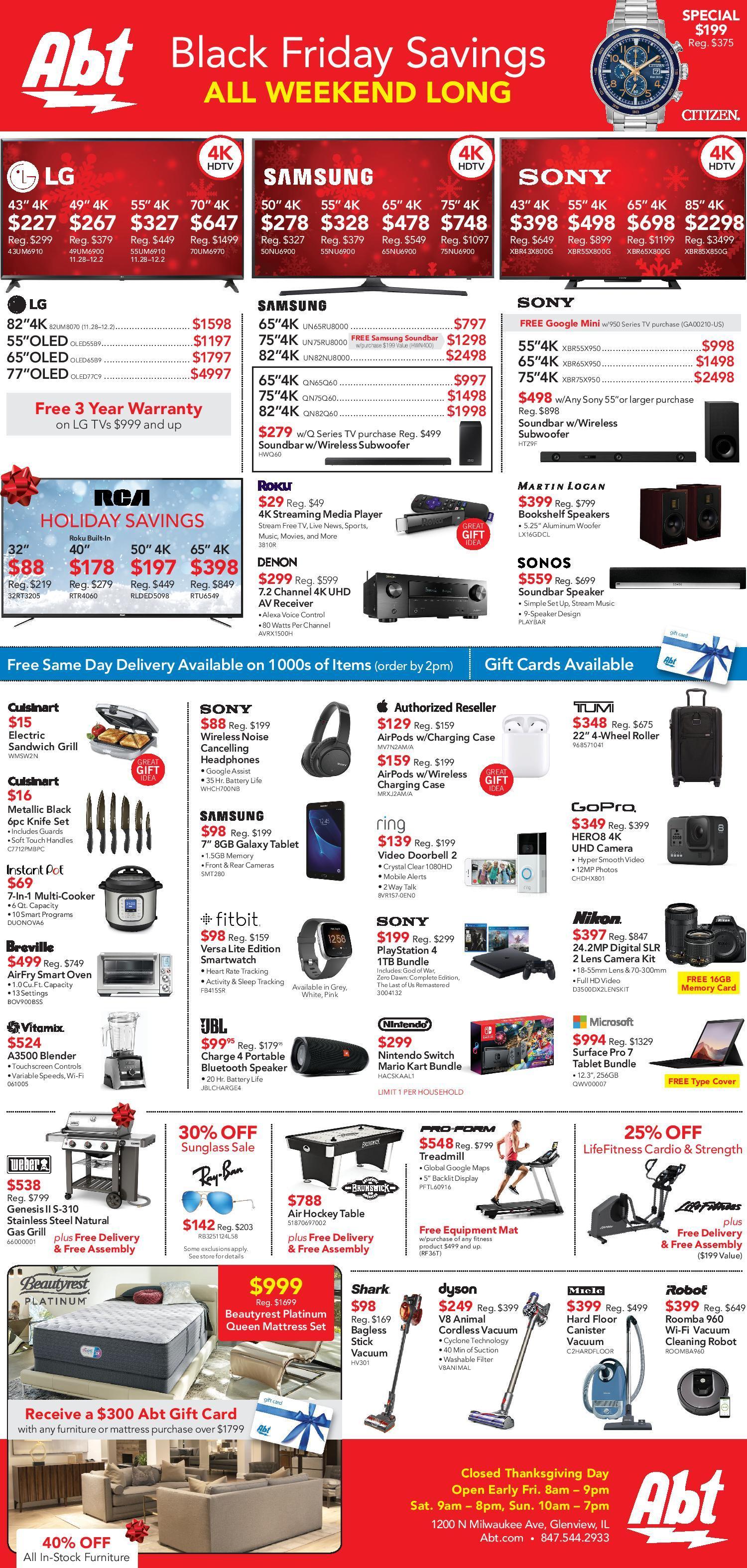 Abt Electronics Black Friday Ads