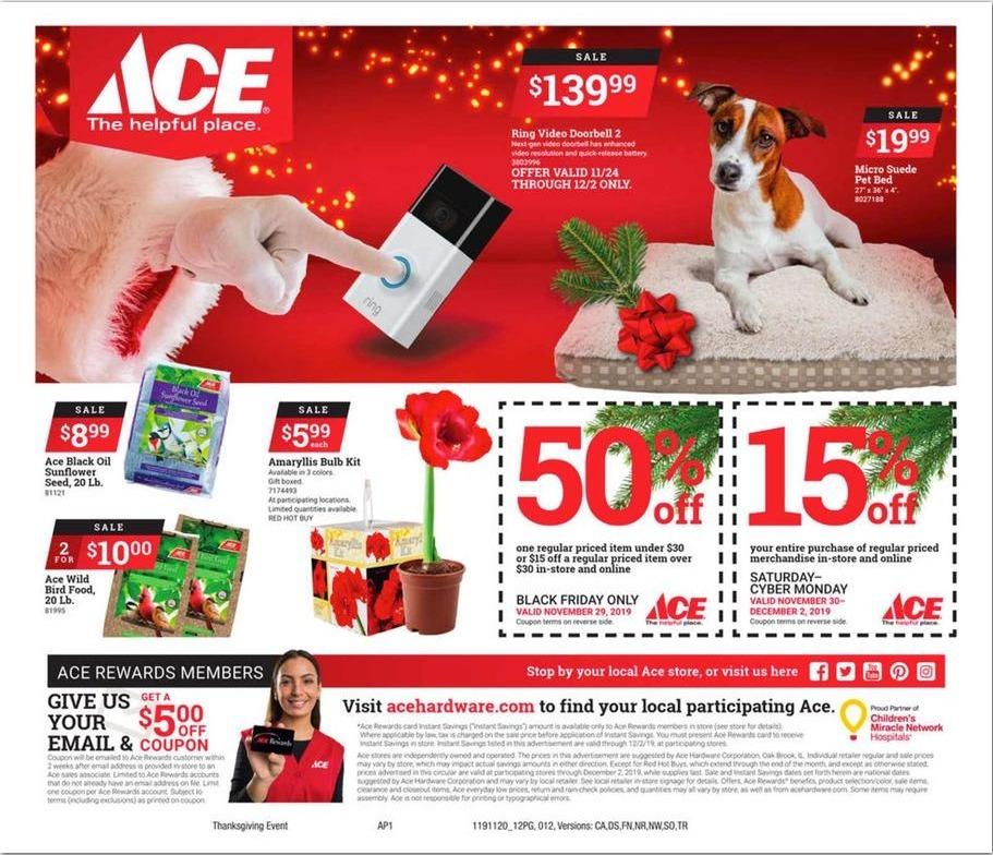 Ace Hardware Black Friday Ads