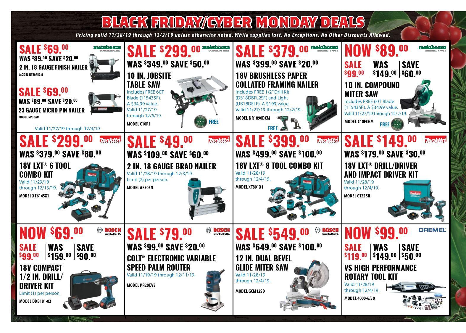 Acme Tools Black Friday Ads
