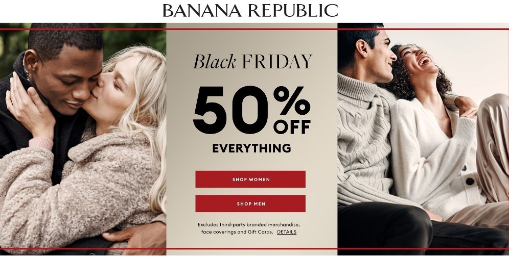 Banana Republic Black Friday Ads