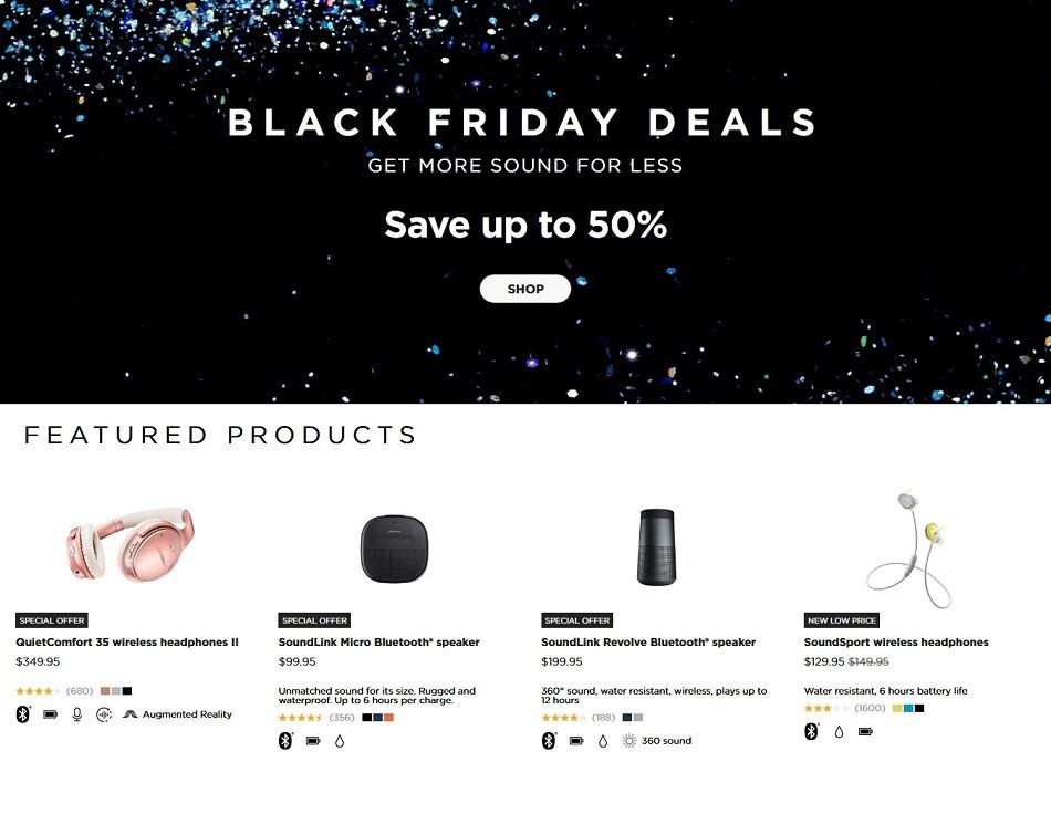 Bose Black Friday Ads