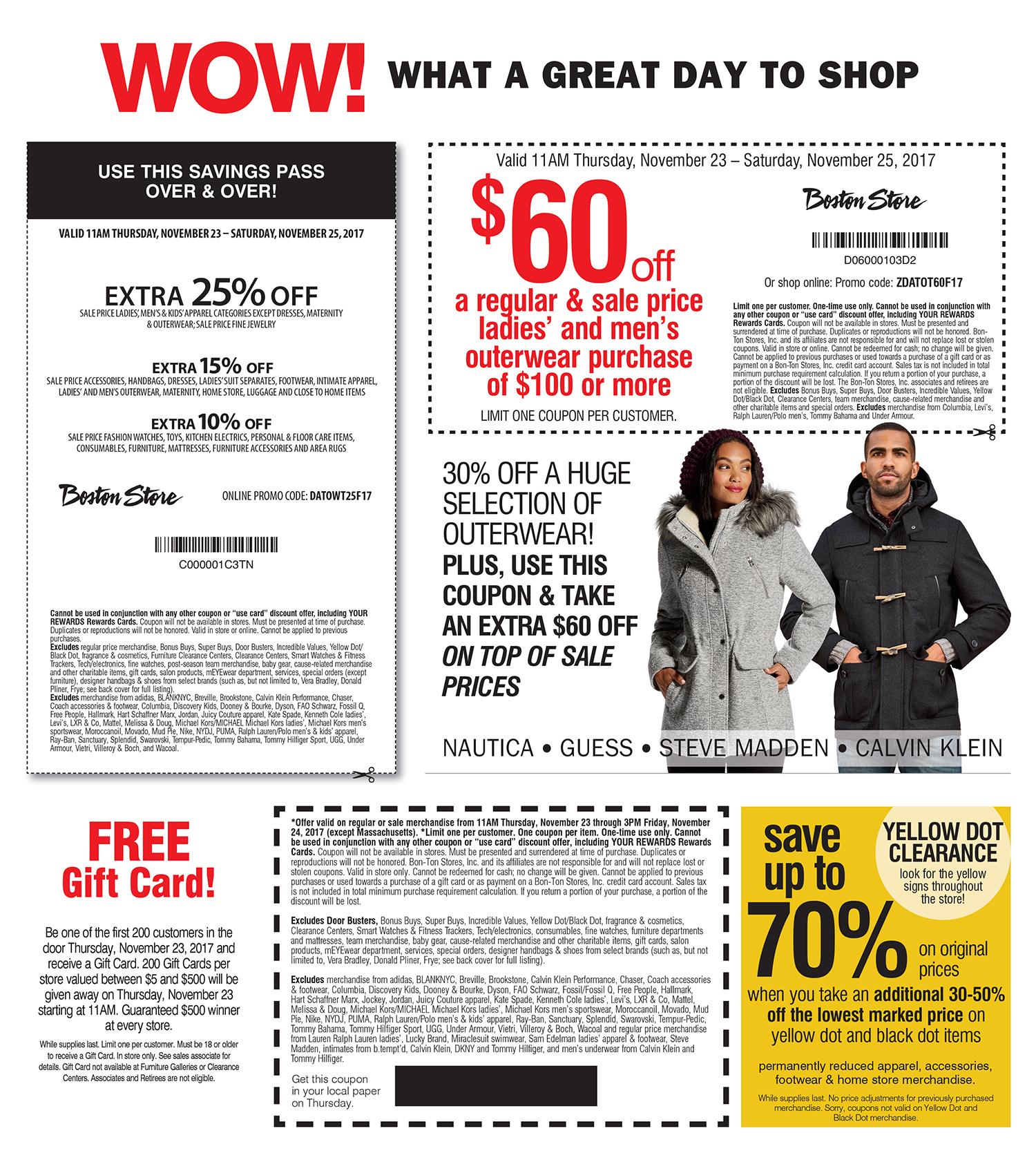 Boston Store Black Friday Ads