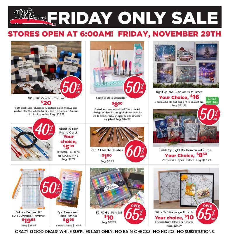 Craft Warehouse Black Friday Ads