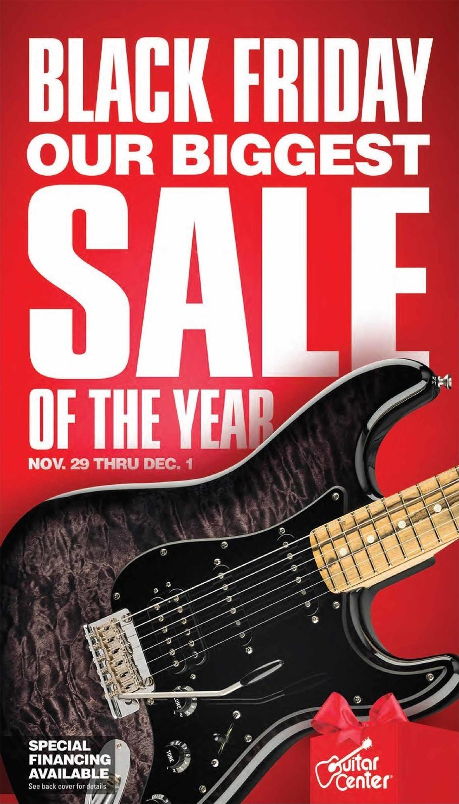 Guitar Center Black Friday Ads