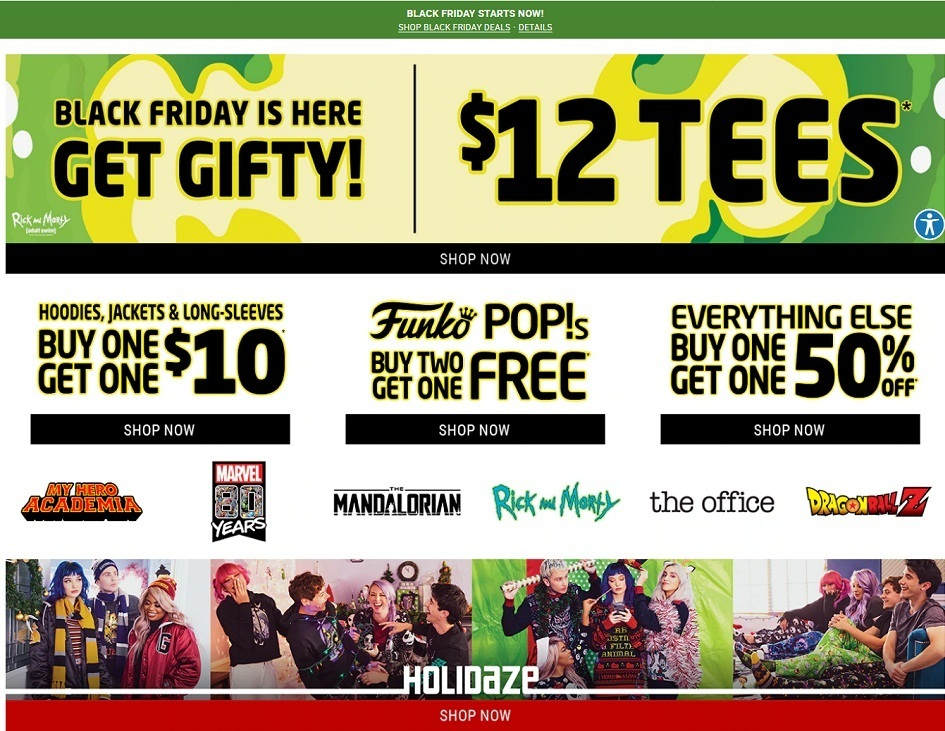 Hot Topic Black Friday Ads
