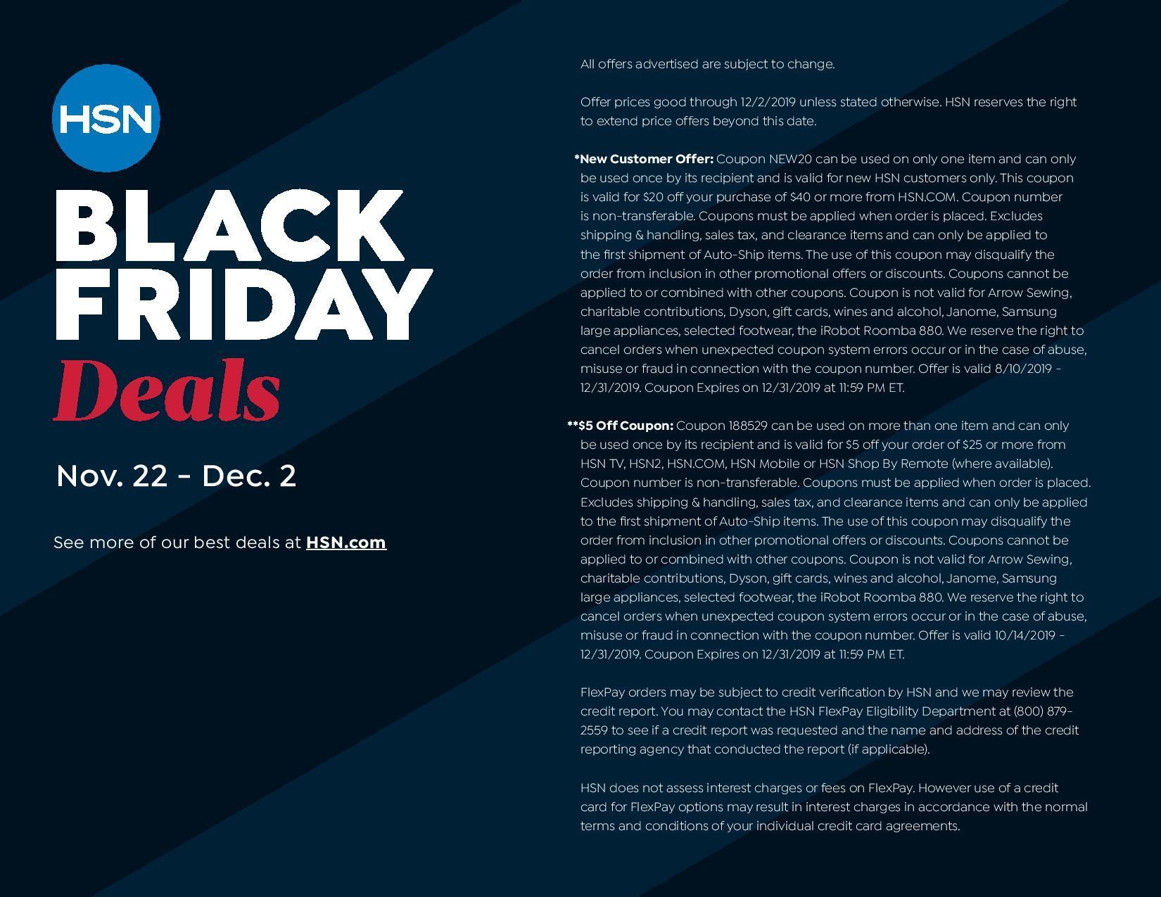HSN Black Friday Ads