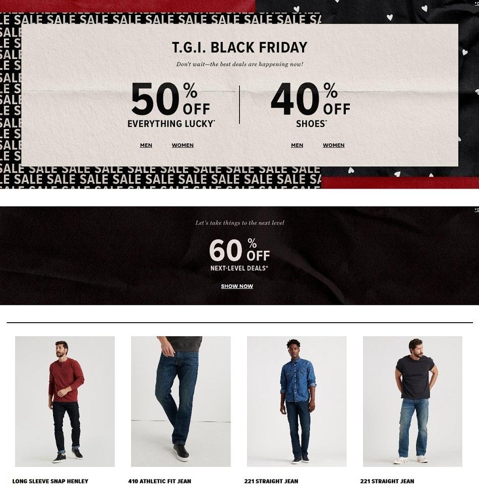 Lucky Brand Black Friday Ads