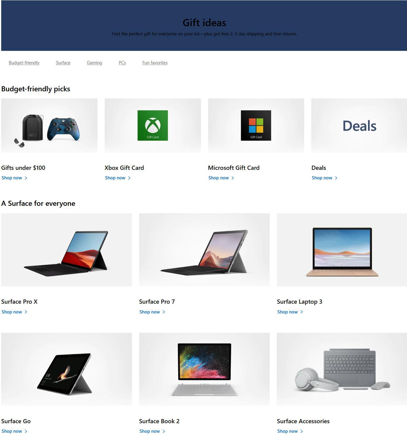 Microsoft Store Black Friday Ads