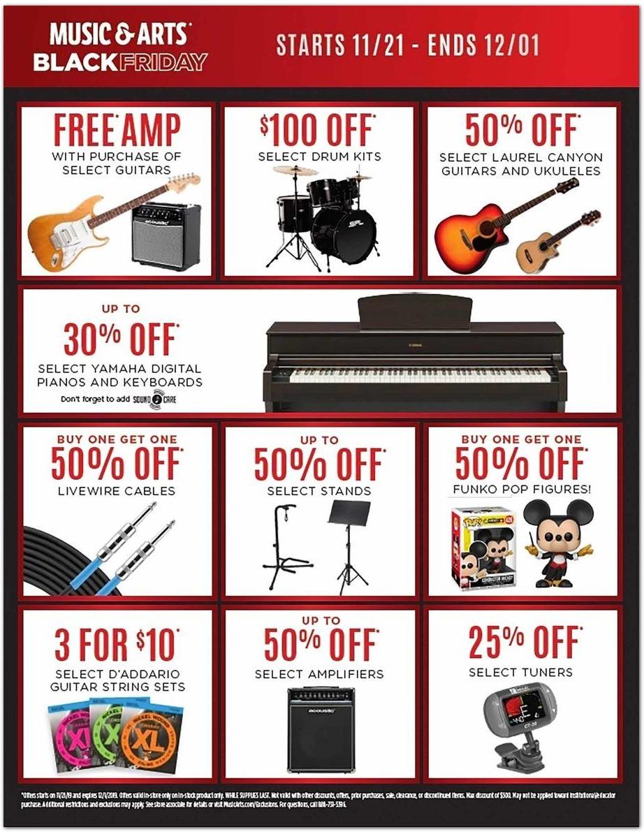 Music & Arts Black Friday Ads