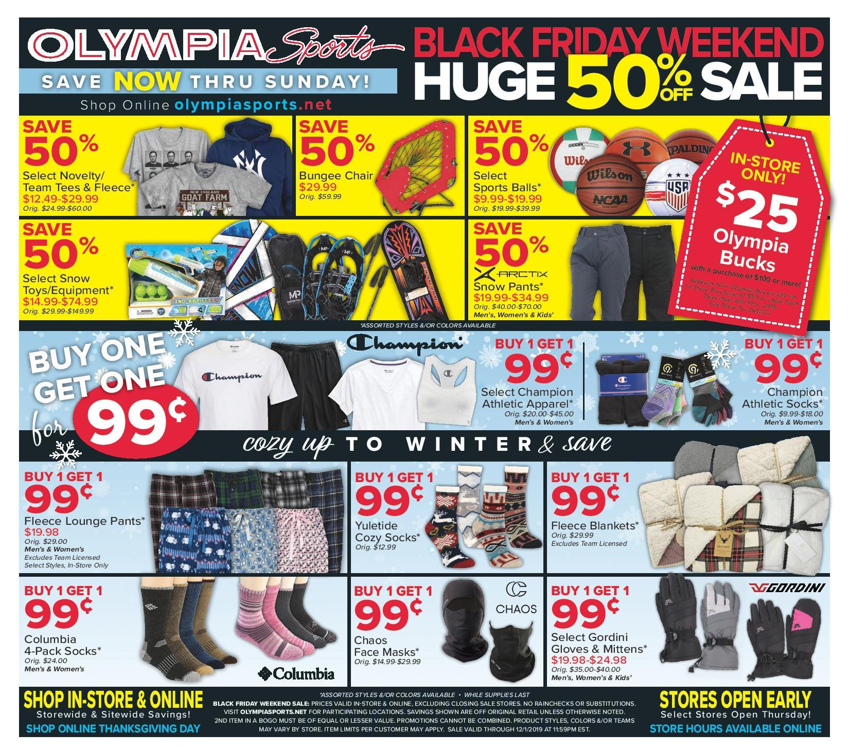 Olympia Sports Black Friday Ads