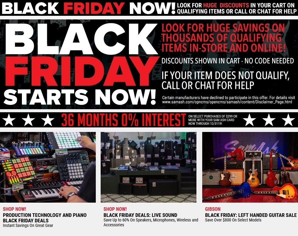 Sam Ash Black Friday Ads