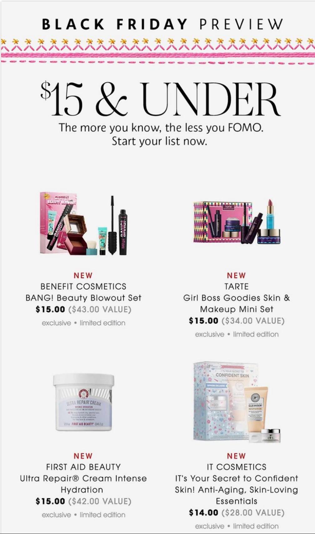 Sephora Black Friday Ads
