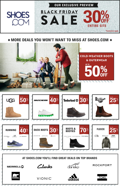 Shoes.com Black Friday Ads
