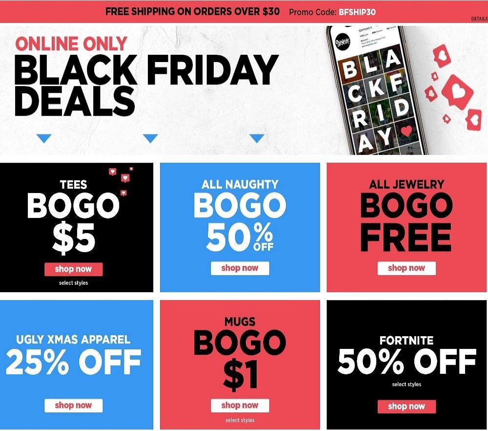 Spencers Black Friday Ads