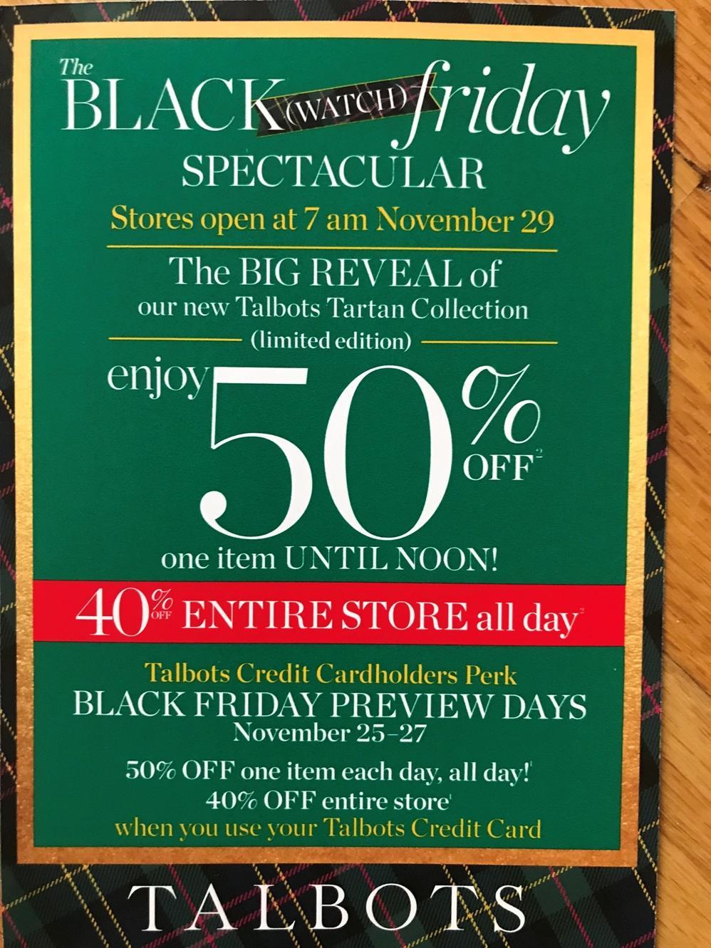 Talbots Black Friday Ads